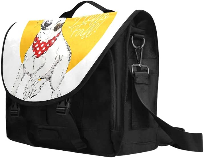 Laptop Slim Briefcase Portrait of Jack Russel Terrier Dog Multi-Functional Laptop Briefcase for Women Fit for 15 Inch Computer Notebook MacBook