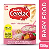 Nestlé Fortified Baby Cereal With Milk  Wheat-Rice Mixed Fruit  Stage-3 (10 Months +) - 300 gm