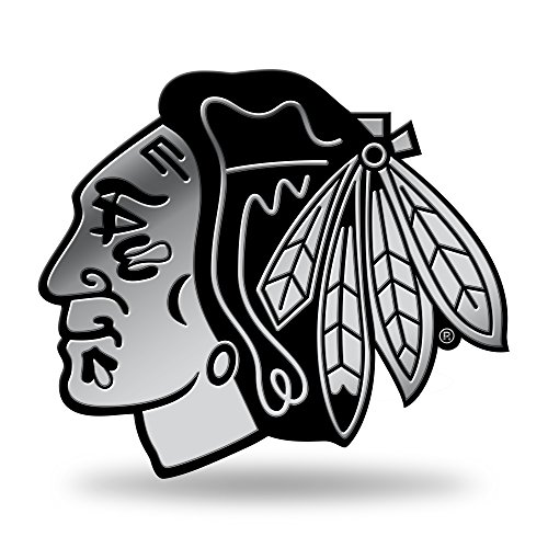 Rico Industries NHL Chicago Blackhawks Chrome Finished Auto Emblem 3D Sticker -