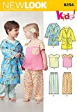 Simplicity Creative Patterns New Look 6234 Toddlers' Top, Pants and Robe, A (1/2-1-2-3-4)