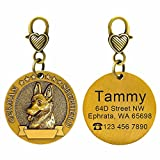 Didog Custom Engraved Dog ID Tags Matching with 18 Breeds 3D Effect,Personalized Memorial