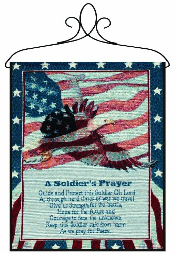 Manual Patriotic Wall Hanging with Frame, A Soldier's Prayer