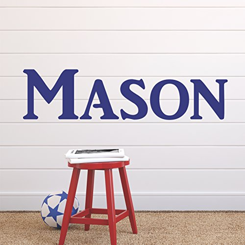 Boys nursery personalized custom name vinyl wall art decal sticker 36 w boy name decal boys name nursery name boys name decor wall decals