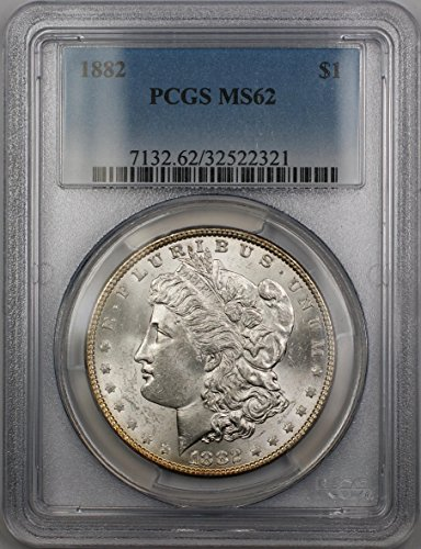1882 Morgan Silver Dollar MS-62 PCGS