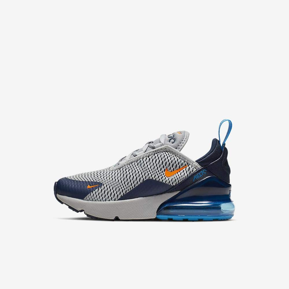 low priced 2a385 b5cde Nike Air Max 270 Kids Wolf Grey/Blue/Orange AO2372-015