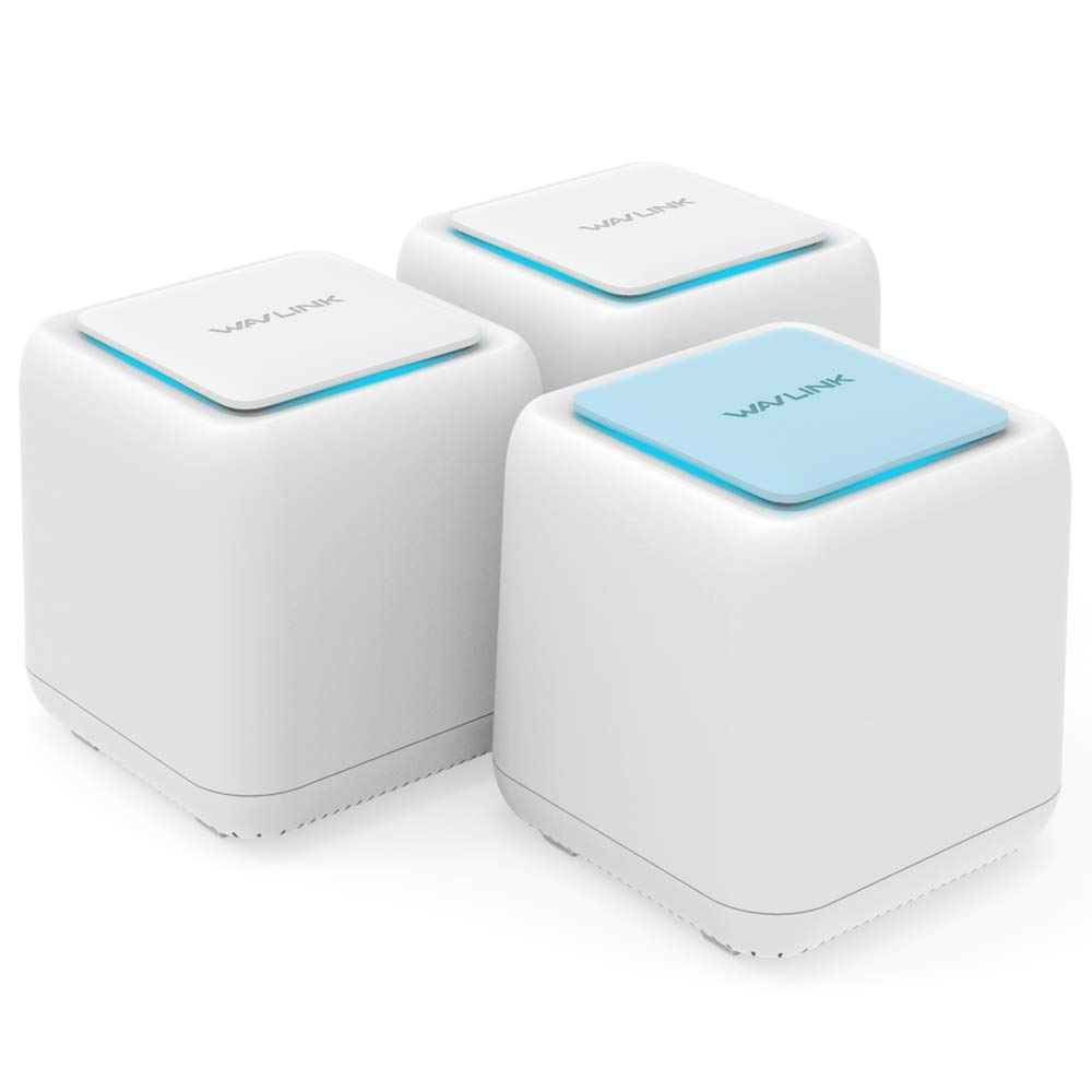 Wavlink Halo Base Sub-Mother Distributed Router, Whole Home Mesh Router WiFi System Coverage up to 5000sq. ft, No WiFi Dead Zones, 3 x Gigabit Ethernet Ports on Each Mesh Router/Point