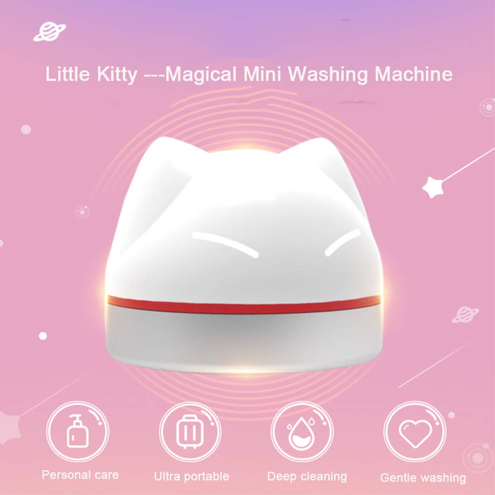 Ultrasonic Washing Machine,USB Portable Mini Laundry Cleaning Machine for Travel Camping, Self Clean Device Machine for Clothes,Underwear,Socks