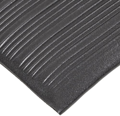 NoTrax T42 Heavy Duty PVC Safety/Anti-Fatigue Comfort Rest Ribbed Foam, for Dry Areas, 3' Width x 10' Length x 9/16