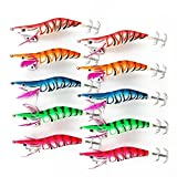 Fishing Squid Skirts Jig Lures Glow Tail Saltwater Fishing Lures Luminous Shrimps Lures In The Dark Squids Jigs Cuttlefish Shrimp Prawn Tackle Hooks