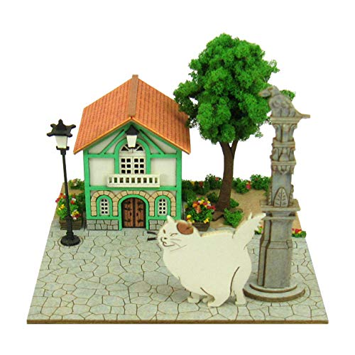 Sankei 12Studio Ghibli Mini Cat Returns The Office of Muta and Cat Non- Scale Paper Craft MP07-63