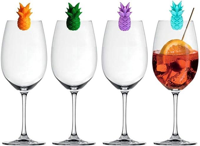 BESTonZON 12 UNIDS Marcador de Copa de Vino de Silicona Creativo Pajarita Sombrero de Barba Dise/ño de Pipa de Tabaco Bebida Encantos Etiqueta Marca Identificaci/ón de Vidrio para Banquete de Fiesta