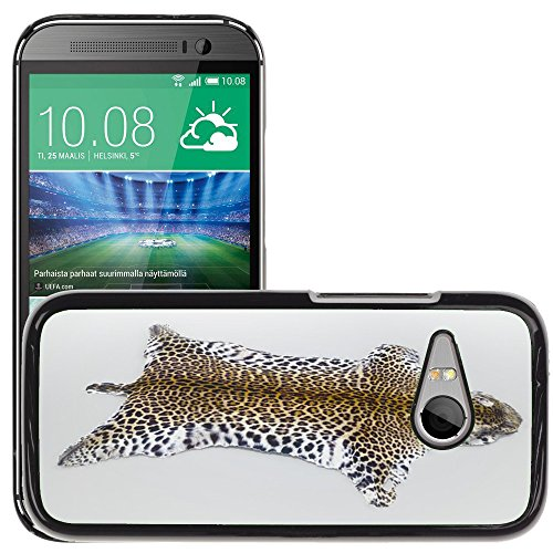 Hot Style Cell Phone PC Hard Case Cover // M00130761 Fur Leopard Animal Wildcat Cat // HTC One Mini 2 / M8 MINI / (Not Fits M8)