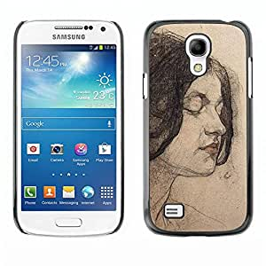 Hard Protector Case Cover Slim Back Shell for Samsung Galaxy S4 Mini i9190 MINI VERSION! /Portrait Woman Brunette/ STRONG