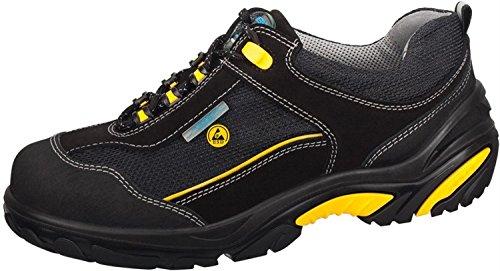 """Abeba 34572-46 talla 46 """"ESD-Crawler"""" zapatos bajos de seguridad - negro/amarillo"""