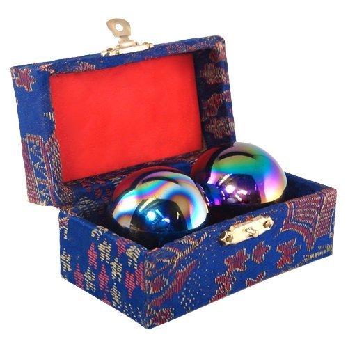 chinese meditation baoding health balls - 1.5 rainbow