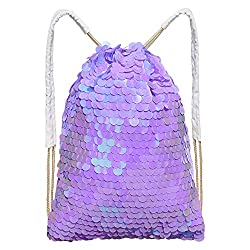 Mermaid Sequin Bag Magic Drawstring Backpack