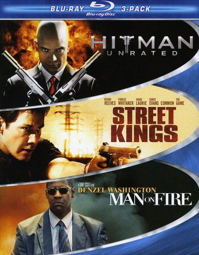Hard Action Blu-ray Three-Pack (Hitman / Street Kings / Man on Fire)
