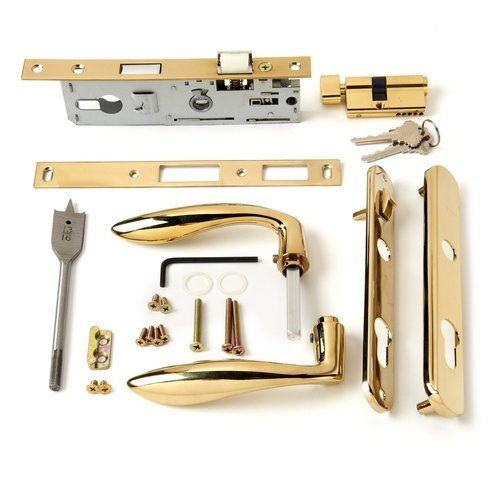 Andersen Storm Door Handle Assembly in Brass Finish Contemporary Style 2004 to Present by Andersen (Image #2)