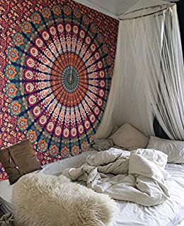 raajsee Tapestry Wall Hanging Mandala, Hippie Bohemian Bedding Home Decor Psychedelic Indian Ethnic Traditional Bedspread