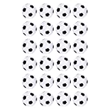 Truscope Sports Foosball Table Soccer Replacement Balls - 36mm - (24 Pack, Black-White)