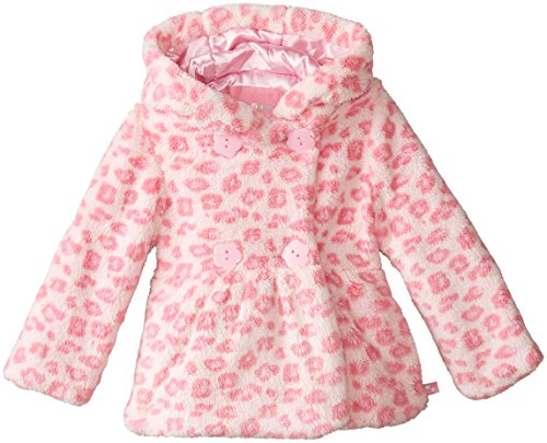 Wippette Little Girls' Toddler Faux Fur Animal Print Jacket, Pink, 3T