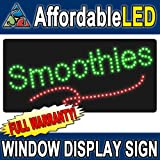 Affordable LED L8503 12 H x 24 L in. Smoothies LED Sign