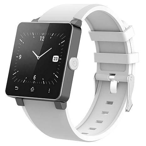 Suweqi Bracelet de Rechange en Silicone pour Montre Sony Smartwatch 2 SW2, White: Amazon.fr: Sports et Loisirs