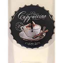 beer cap shaped café themed wall clock, cofee lovers , CAPPUCCINO themed