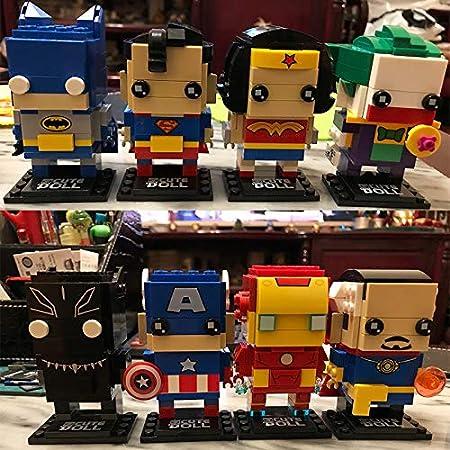 CuteDoll Figura de Black PANTER de los Vengadores Avengers Endgame Puzzle Juego Bloques de construccion tamaño 9 cm DIY Mini Building Puzzle Juguete niños colección