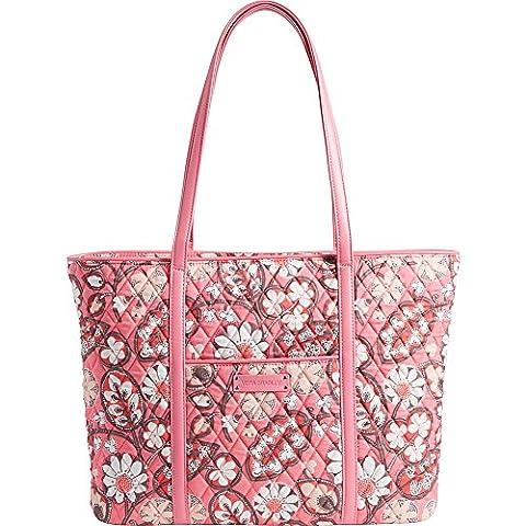 Vera Bradley Women's Trimmed Vera Laptop Tote Blush Pink/Pink Tote - Pink Laptop Tote