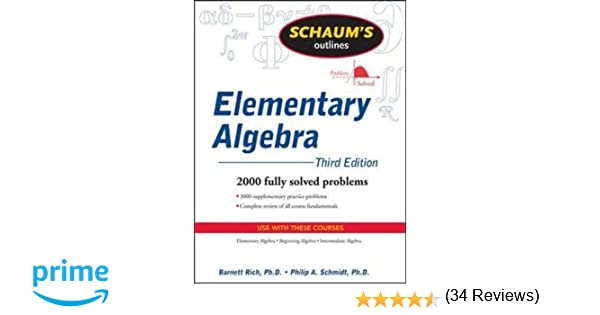 Schaum's Outline of Elementary Algebra, 3ed (Schaum's Outlines ...