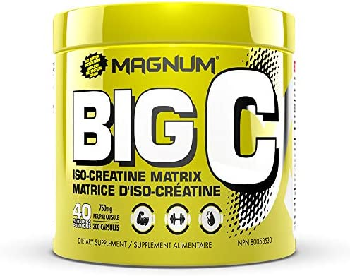 Magnum Nutraceuticals Big C – 200 Capsules – All Natural Creatine – Build Lean Muscle – Increase Strength – Reduce Recovery Time – No Water Retention