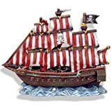 Exotic Environments Pirate Clipper Ship Aquarium Ornament, 10-Inch by 4-1/2-Inch by 10-Inch