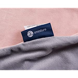 Oversize Plush U Shaped Pregnancy Body Pillowcase (Grey and Pink pillowcase)