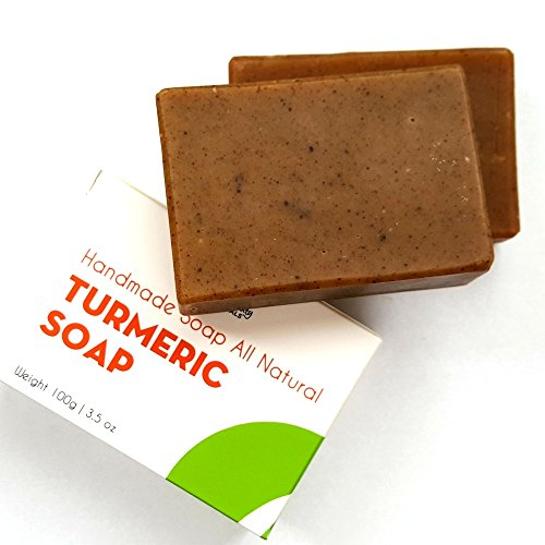 All Natural Beauty Bar (NEW Turmeric All-Natural Soap with Coconut Oil, Seaweed (Offers Exfoliation) and Beeswax from Sublime Naturals. Hand-Made, 3.5 ounces. (1 BAR))
