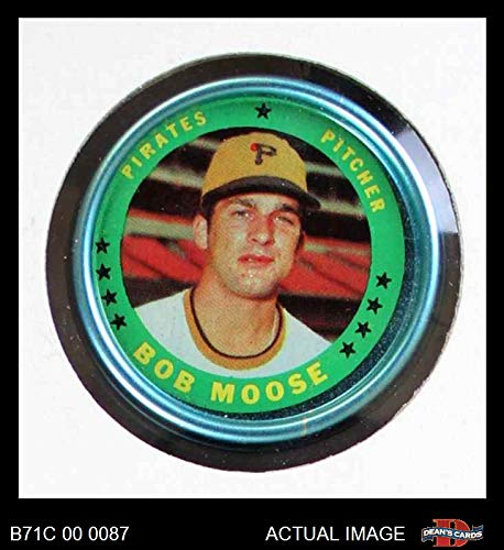 1971 Topps Coins # 147 Bob Moose Pittsburgh Pirates (Baseball Card) Dean's Cards 6 - EX/MT Pirates