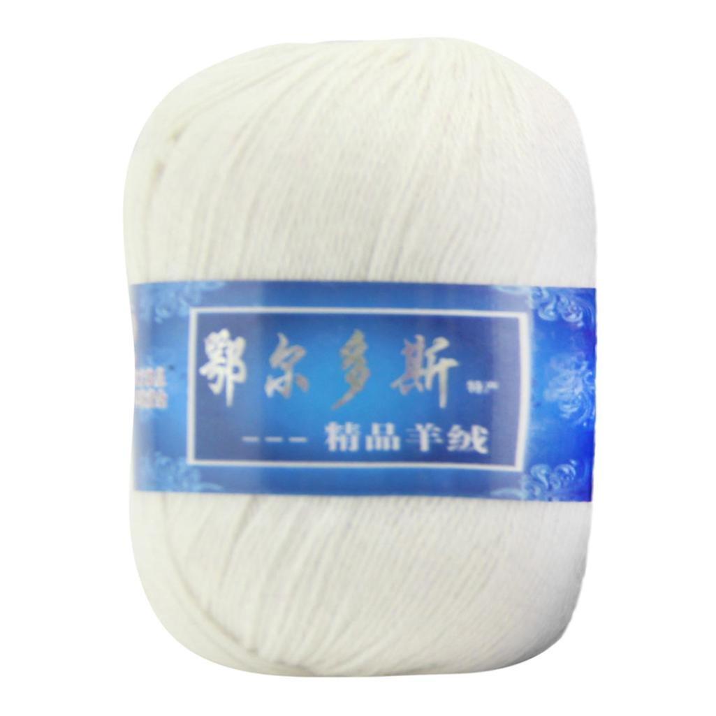 Elaco 1pc Soft Cashmere Yarn Hand-knitted Mongolian Woolen DIY Weave Thread (J)