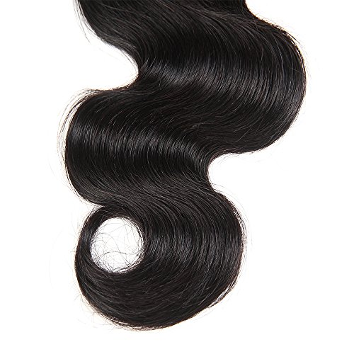 Brazilian Body Wave Closure Unprocessed Human Hair Lace Closure (4X4) Natural Black Color 10Inch by Grand Nature (Image #4)