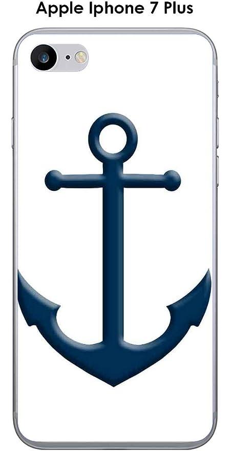 Onozo Cover Apple Iphone 7 Plus Design Ancora Blu Sfondo Bianco