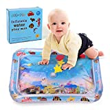 JCBABA Inflatable Water Play Mat for Babies Tummy Time Premium Water Mat Activity Infants & Toddlers Toys Leakproof BPA Free Water Mat Toy