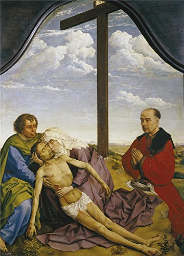 - The High Quality Polyster Canvas Of Oil Painting 'Weyden Roger Van Der Pieta Ca. 1450 ' ,size: 16 X 22 Inch / 41 X 57 Cm ,this Amazing Art Decorative Prints On Canvas Is Fit For Hallway Artwork And Home Gallery Art And Gifts