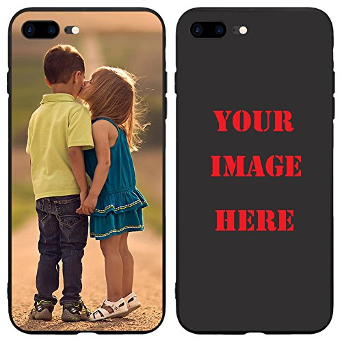Depthlan Custom Phone Case for iPhone 8 Plus/iPhone 7 Plus, Personalized Photo Phone Case, Soft Protective TPU Bumper, Customized Cover Add Image Painted Print Text Logo Picture