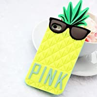 3D Cute Pineapple Pattern Soft Silicone Case Cover For iPhone 5 (Yellow)