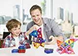Ailuki 110PCS Magnetic Building Blocks Magnet Tiles Educational Stacking Blocks Boys Girls Toys for Children Educational and Creative Imagination Development