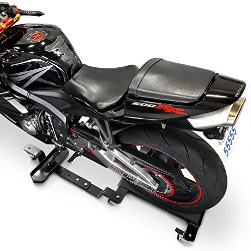 Venom Motorcycle Mover Dolly Cruiser Side Stand for Harley Davidson Dyna Glide Fat Bob Super Wide