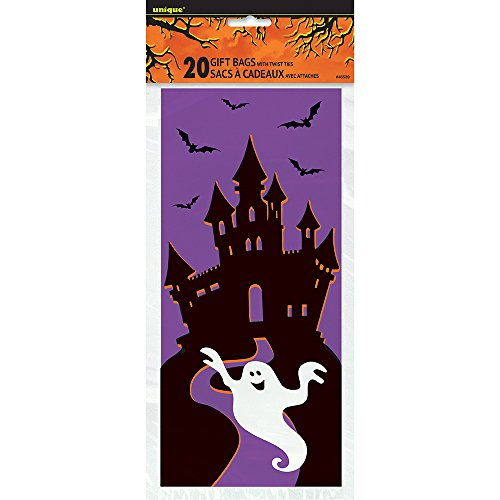 Haunted House Halloween Cellophane Bags, 20ct