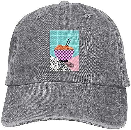 AOHOT Classic Hombre Mujer Gorras de béisbol,Love You Pho Real Mess Around Caps Flat-Along Trucker Hat Classic