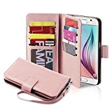 Best Galaxy S6 Phone Cases - Galaxy S6 Case, Jwest Premium Leather Folio S6 Review