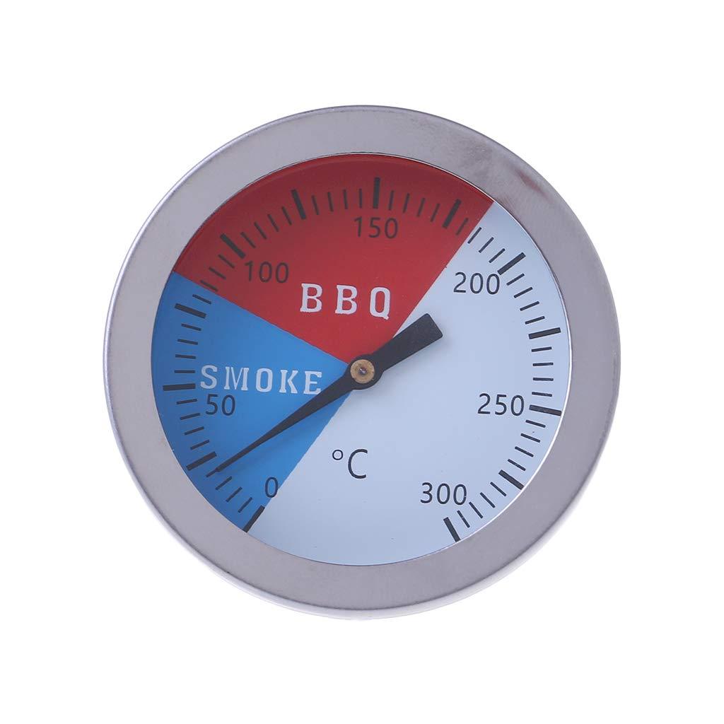 Exing Thermom/ètre /à 300 degr/és Thermom/ètre BBQ Four /à fum/ée Indicateur de temp/érature Outil de camp en plein air Comme pictcur