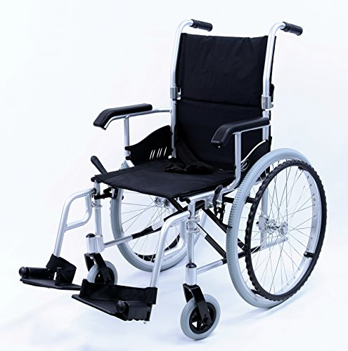 Karman LT-980-SI-E 24 Pound Ultra Lightweight Wheelchair with Elevating Leg Rest, Silver